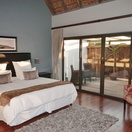 Room 1 with private deck, indoor and outdoor showers & bath, St Francis Golf Lodge
